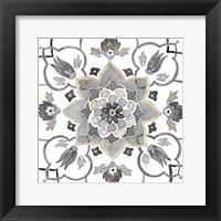 Framed Turkish Tile Neutral III