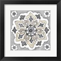 Framed Turkish Tile Neutral IV
