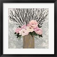 Framed Twiggy Floral Arrangement