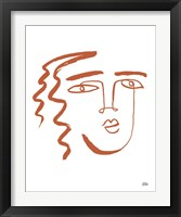 Framed Making Faces V Terracotta
