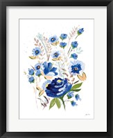 True Blue I Framed Print