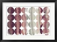Framed Summer Dots Plum Horizontal