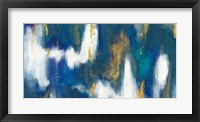 Blue Texture II Gold Crop Framed Print