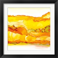 Yellowscape II Framed Print