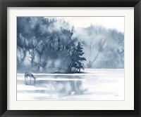 Framed Winter Lake