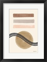 Geo Abstract IV Neutral Pink Framed Print