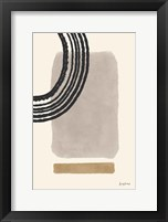 Geo Abstract III Neutral Pink Framed Print