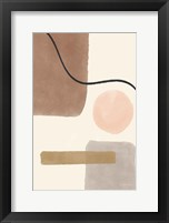 Framed Geo Abstract I Neutral Pink