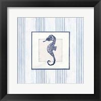 Sanibel Shell IV Navy Framed Print