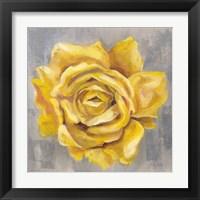 Framed Yellow Roses II