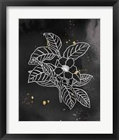 Indigo Blooms I Black Framed Print