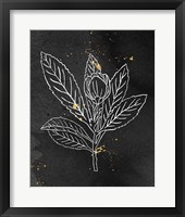 Indigo Blooms IV Black Framed Print