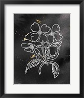Indigo Blooms III Black Framed Print
