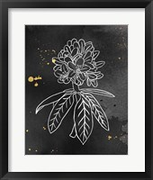 Indigo Blooms II Black Framed Print