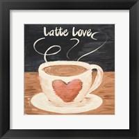 Framed Latte Love Square