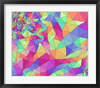 Framed Colorful Rainbow Pattern
