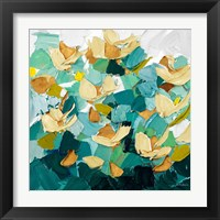 Framed Gold and Teal Dream