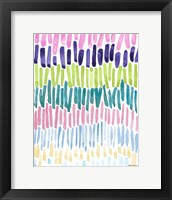 Framed Colorful Waterfall Stripes