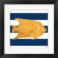 Framed Sea Creatures on Stripes II