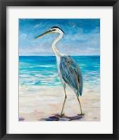 Framed Egret Beach