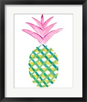 Framed Punched Up Pineapple II