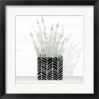 Framed Lavender and Wood Square I