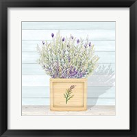 Lavender and Wood Square III Framed Print