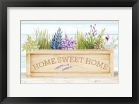 Framed Lavender & Wood Planter Home
