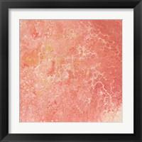 Modern Peach Flow I Framed Print