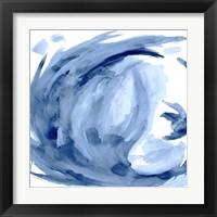 Framed Blue Swirl Square II