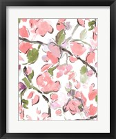 Framed Spring Floral In Pink