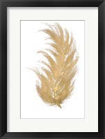 Gold Feather I Framed Print