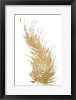Gold Feather II Framed Print