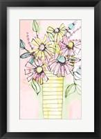 Framed Wildflowers Vase