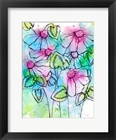 Framed Vibrant Bursts and Blossoms