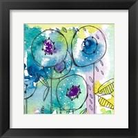 Framed Splash of Watercolor Floral