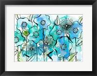 Framed Blue Tone Garden