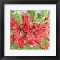 Framed Vibrant Poinsettias II