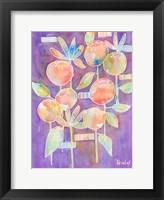 Framed Bubble Blossoms on Violet