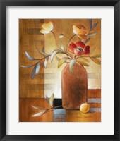 Framed Afternoon Poppy Still Life II