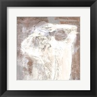 Neutral Figure on Abstract Square I Framed Print