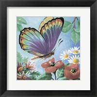 Butterfly Flowers I Framed Print