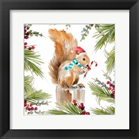 Holiday Squirrel Framed Print