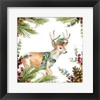 Holiday Deer Framed Print