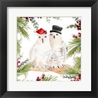 Holiday Owls Framed Print
