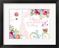 Framed Follow Your Heart to Paris