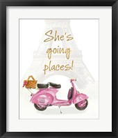 She's Going Places I Framed Print