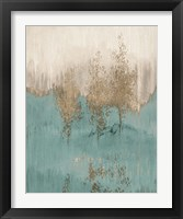 Through The Gold Trees Abstract I Framed Print
