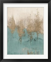 Through The Gold Trees Abstract II Framed Print