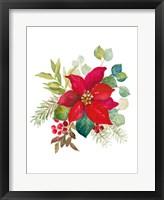 Blooming Poinsettia I Framed Print